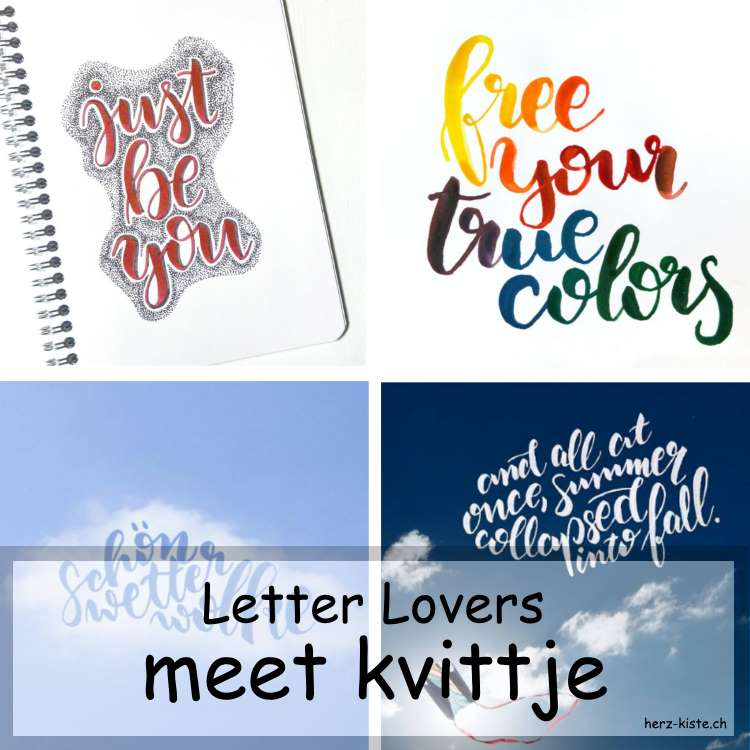 Collage verschiedener Letterings von kvittje