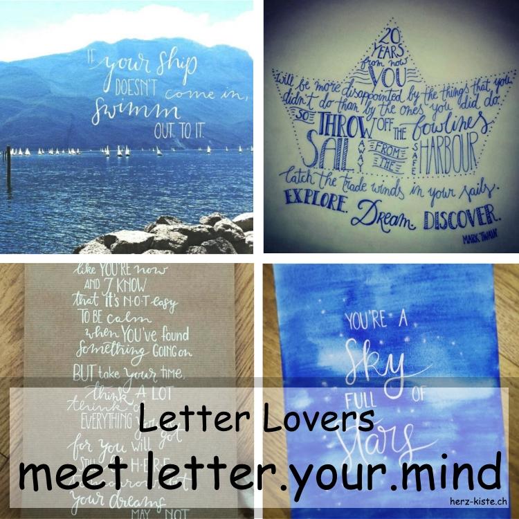 Zusammenstellung mehrerer Letterings von letter.your.mind