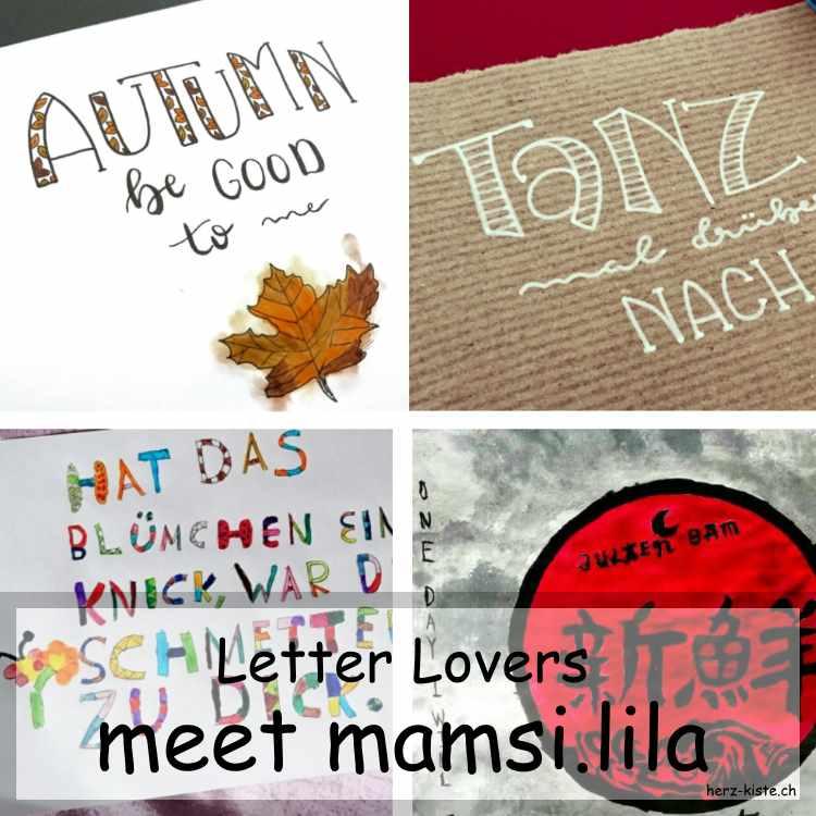 Zusammenstellung mehrerer Letterings von mamsi.lila
