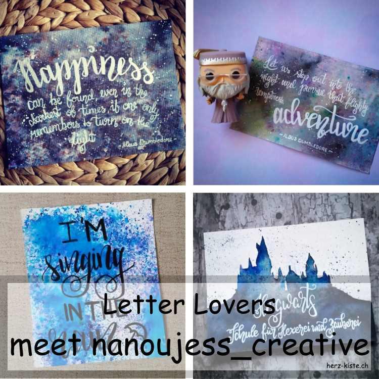 Zusammenstellung mehrerer Letterings von nanoujess_creative