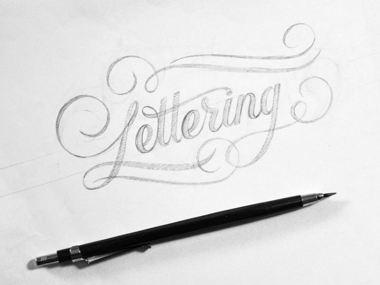 Lettering Bleistiftskizze