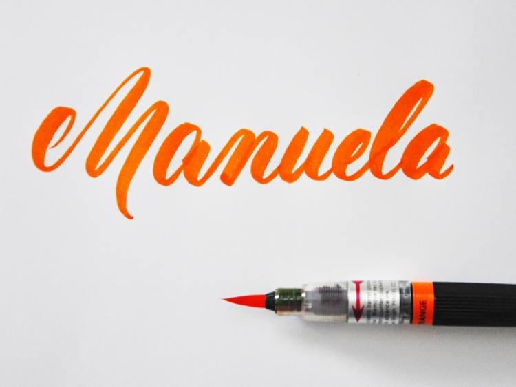 Manuela - Name in Brushlettering