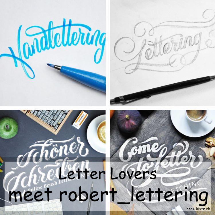 Zusammenstellung mehrerer Letterings von robert_lettering