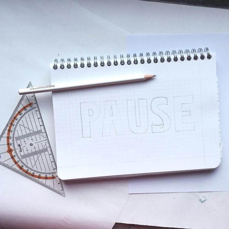 Pause - 3D Bleistiftskizze