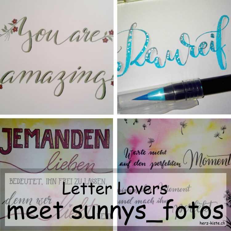 Zusammenstellung mehrerer Letterings von sunnys_fotos als Titelbild für das Letter Lovers Interview
