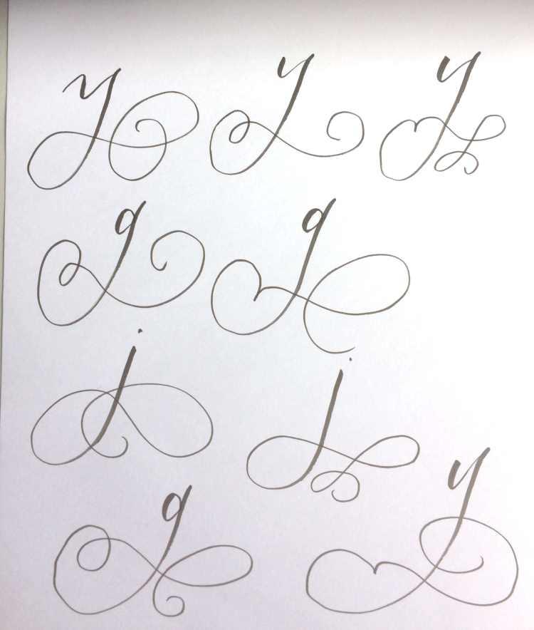 Beispiele Schnörkel Buchstaben Lettering