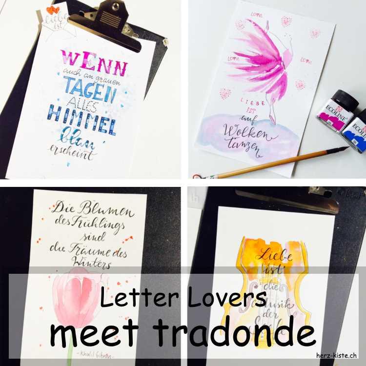 Zusammenstellung mehrerer Letterings von tradonde für die Letter Lovers