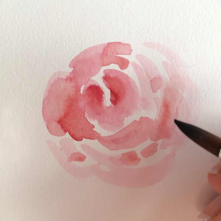 Rosen malen mit Brushpen und Pinsel