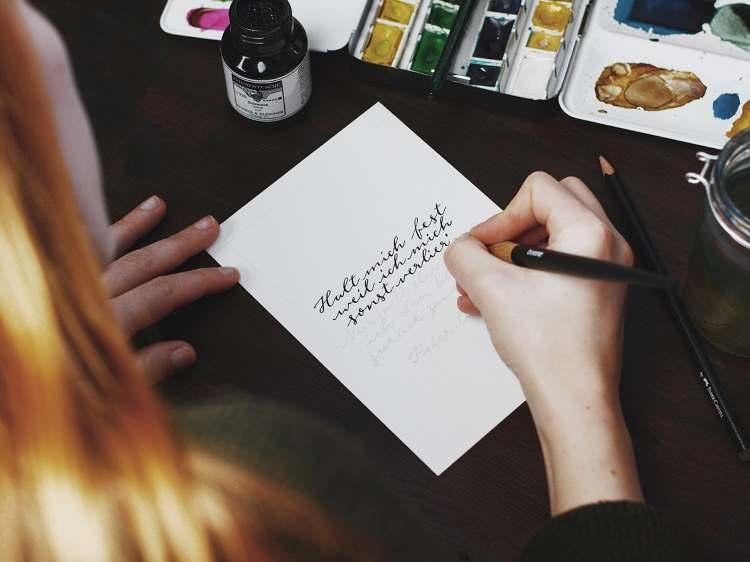 Spruch Kalligrafie