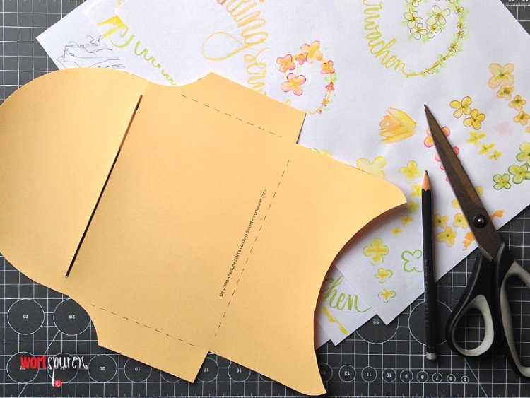 Briefumschlag aus Vorlage gestalten