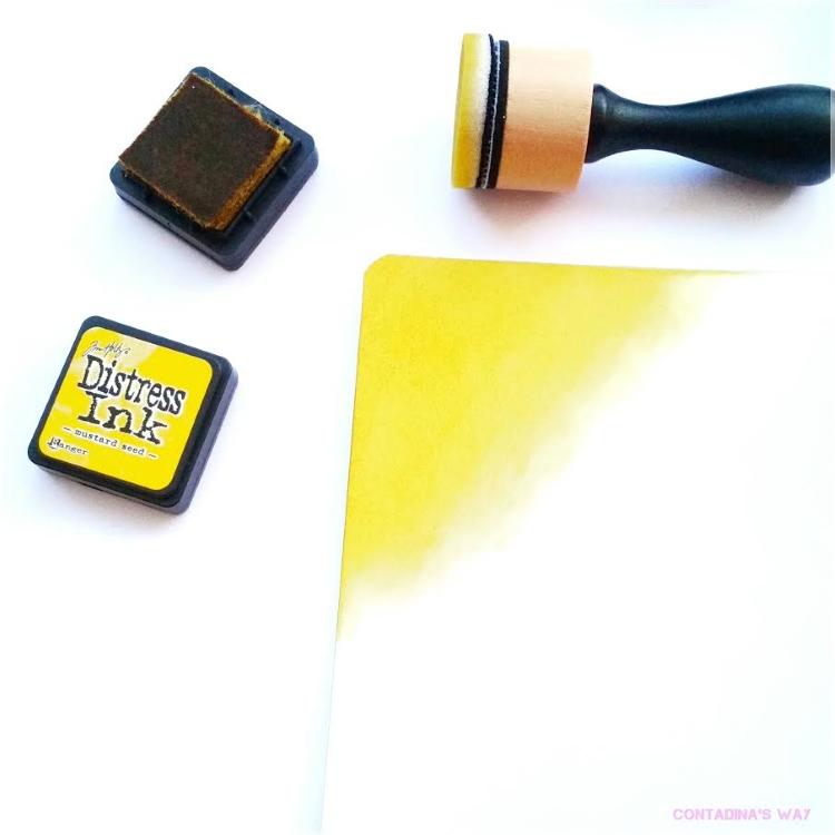 Stempel Blendinig - erste Farbe auftragen