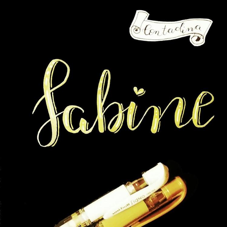 Sabine - Handlettering