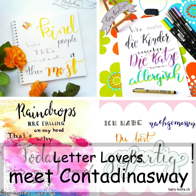 Collage verschiedener Letterings von contadinasway