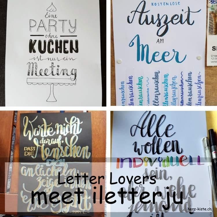 Collage mehrerer Letterings von iletterju