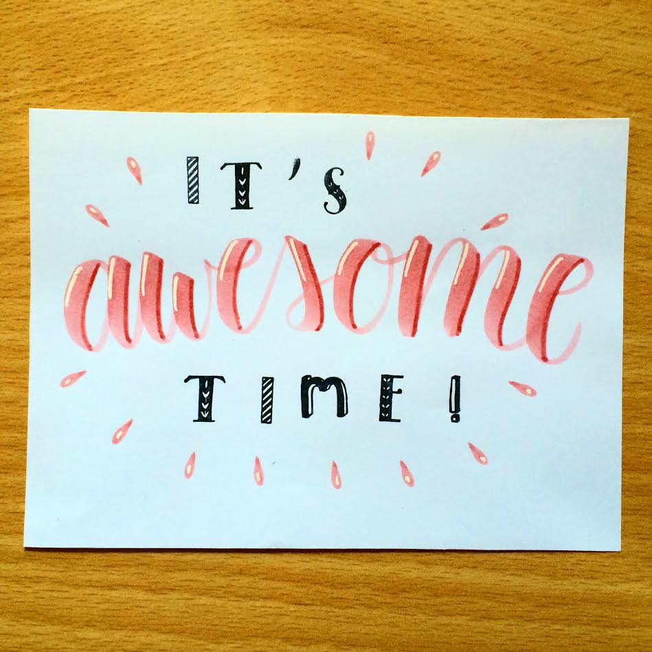 Lettering: it's awesome Time