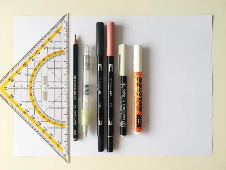 Material um einen Farbverlauf zu lettern