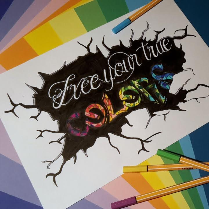 Handlettering: free your true colors