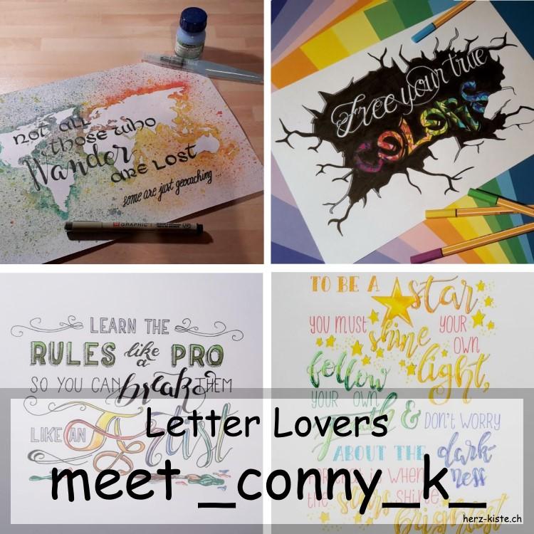 Collage mehrerer Letterings von _conny_k_
