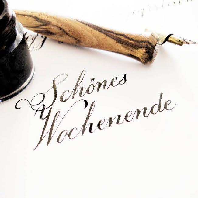 Kalligrafie Schönes Wochenende