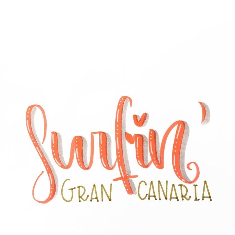 Lettering - surfin Gran Canaria