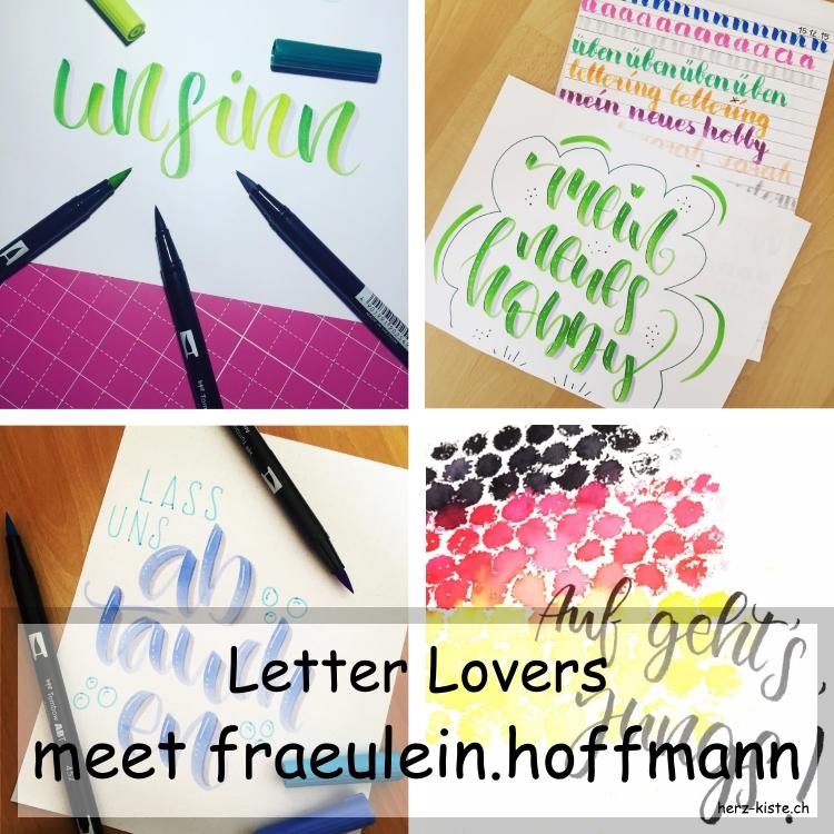 Collage mehrerer Letterings von fraeulein.hoffmann