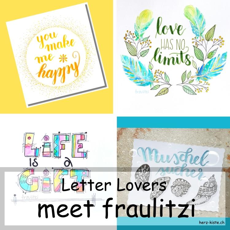Zusammenstellung mehrerer Letterings von fraulitzi