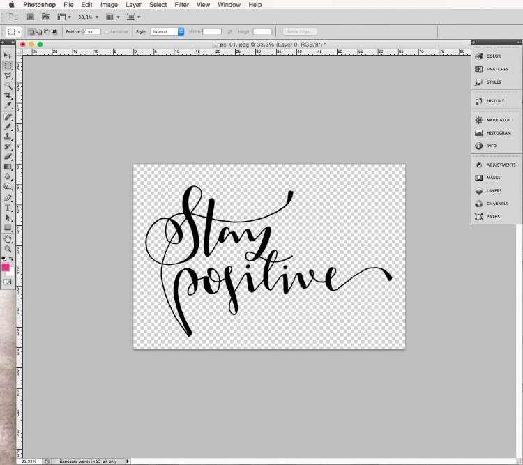 Lettering mit Photoshop digitalisieren