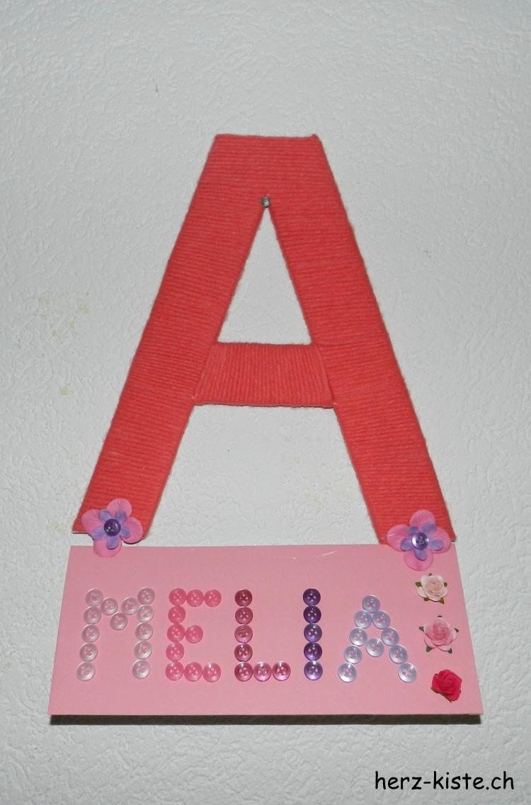 Amelia - DIY Namensschild