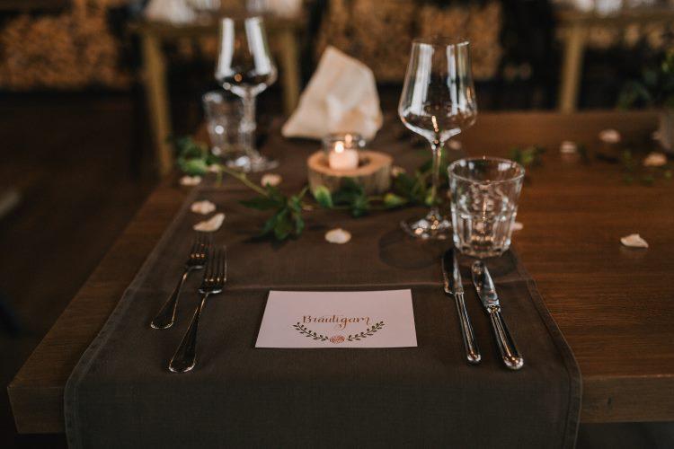 Bräutigam - Handlettering Namensschild für eine Hochzeit