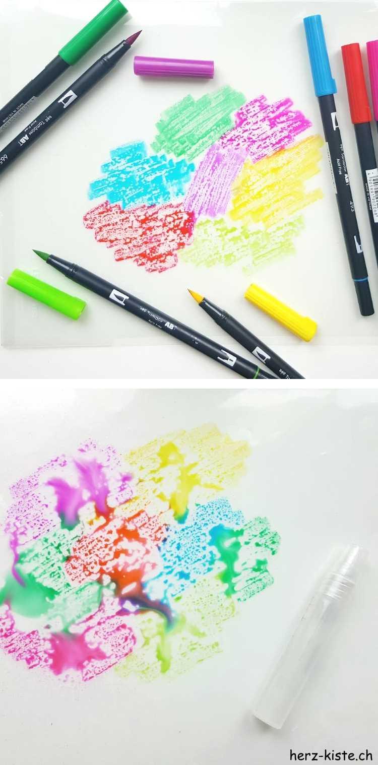 Watercolor Hintergrund für dein Lettering