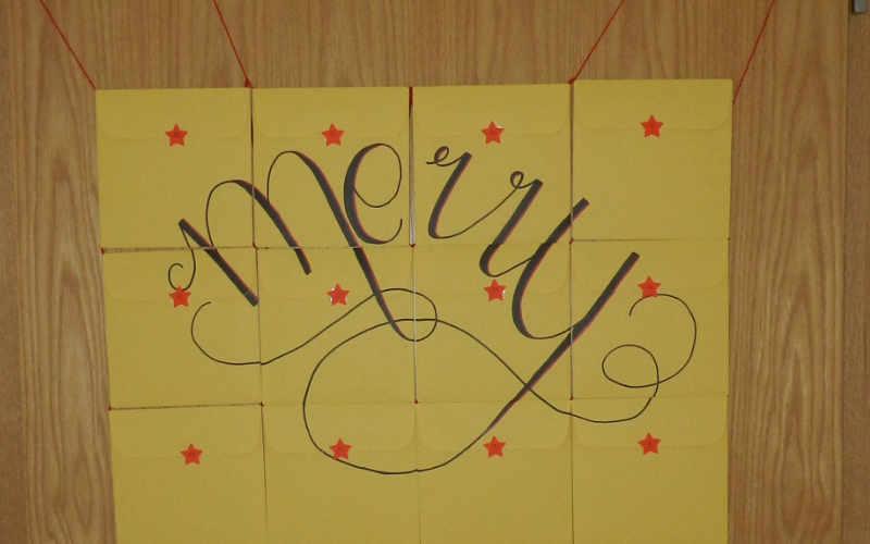 Last Minute Adventskalender aus Briefumschlägen