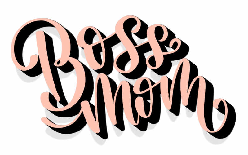 Boss Mom - digitales 3D Lettering