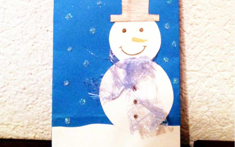 Geschenk-Tüte selber machen – Winterstyle