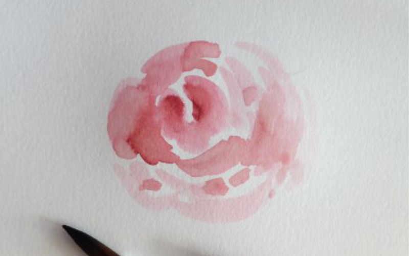 Rose als Verzierung für dein Lettering - mit einem Brushpen gemalt