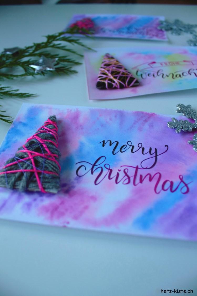 merry christmas - Lettering Weihnachtskarte