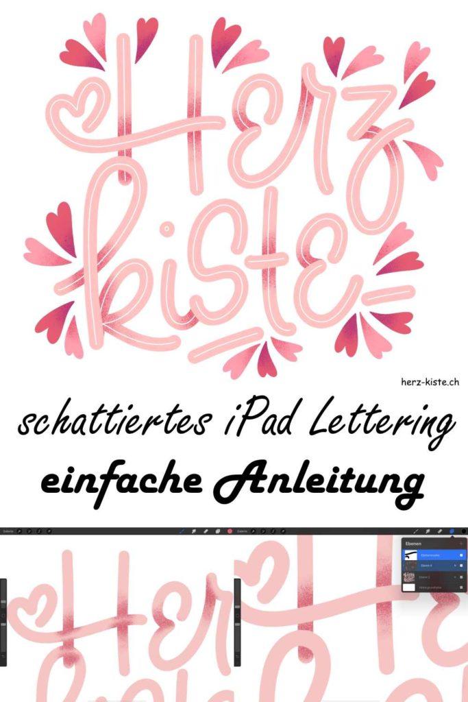 eine einfache Schritt für Schritt Anleitung für ein schattiertes iPad Lettering - digital Lettern mit WOW-Effekt kannst auch du dank dieser Anleitung!