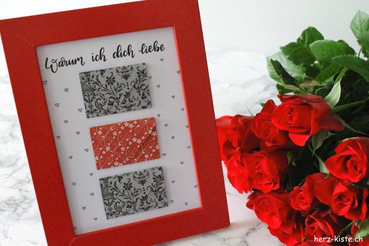 Warum ich dich liebe - ein persönliches Geschenk zum Valentinstag mit Briefchen
