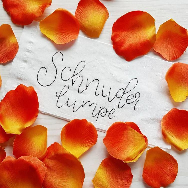 Schnuderlumpe: ein Taschentuch - Lettering
