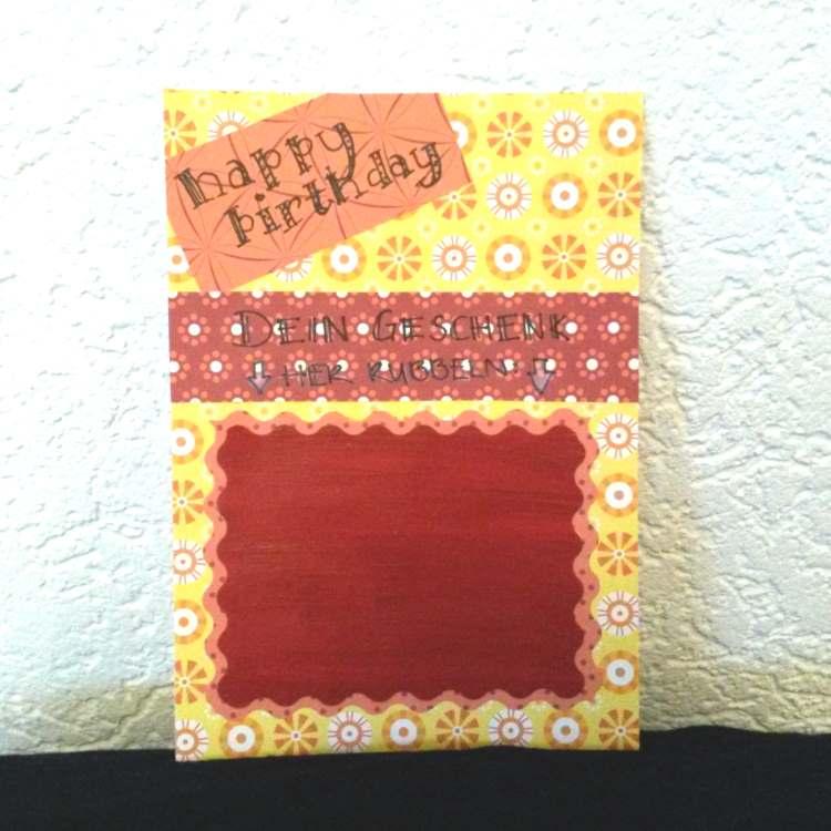 DIY Karte zum Geburtstag mit Rubellos