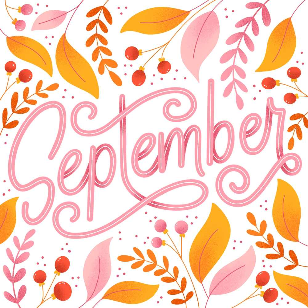 September - digitales Lettering
