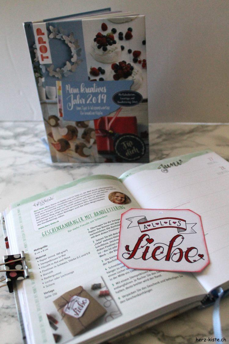 """Alles Liebe - Geschenkanhänger aus dem Buch """"Mein kreatives Jahr 2019"""""""