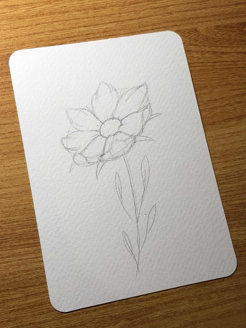 Skizze einer Blume - einfach zeichnen