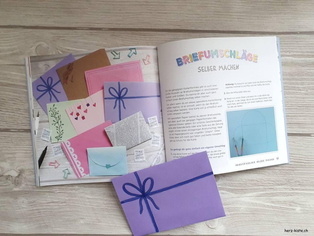 Briefumschläge selber machen - einfache Anleitung im Buch Snail Mail kreative Kartengrüsse