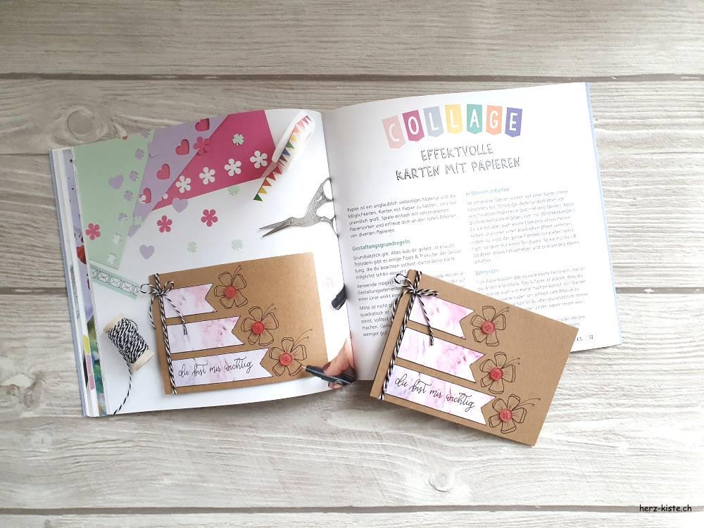 Karten basteln mit Collagen - effektvolle selbstgemachte Karten mit Papier - Anleitungen Schritt für Schritt