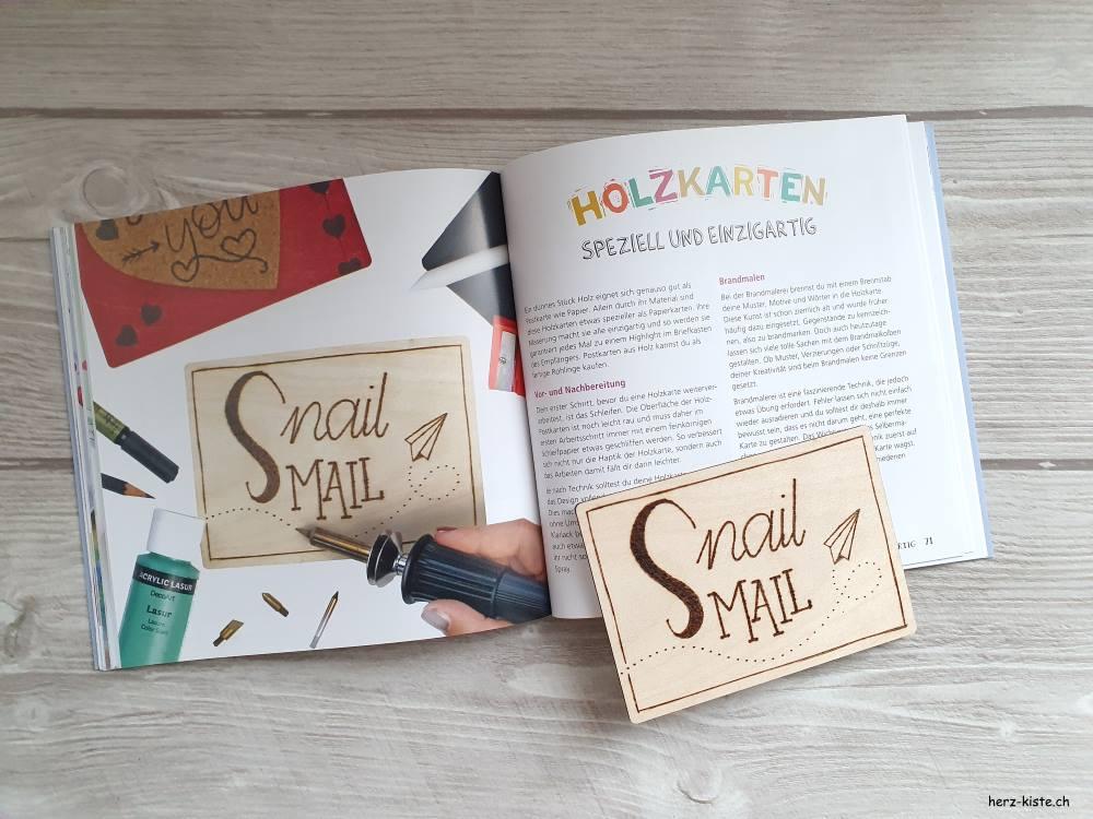 Snail Mail Holzkarte - spezielle und einzigartige Karten basteln