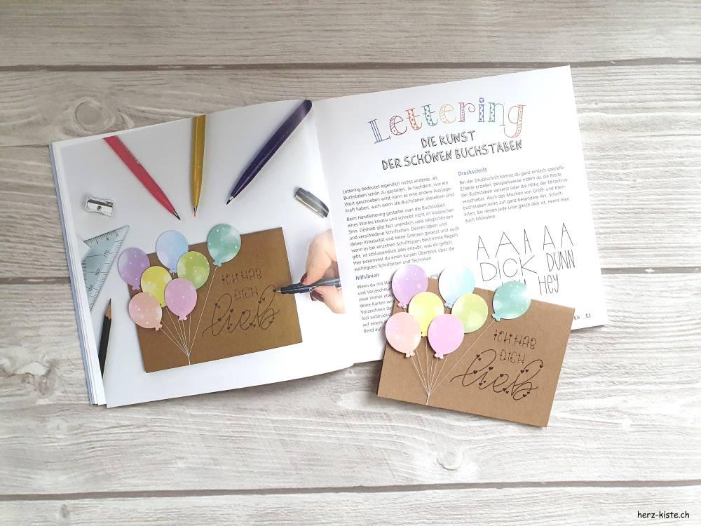 Karten Basteln mit Letteirng - Ideen und Anleitungen zum selber machen - Snail Mail