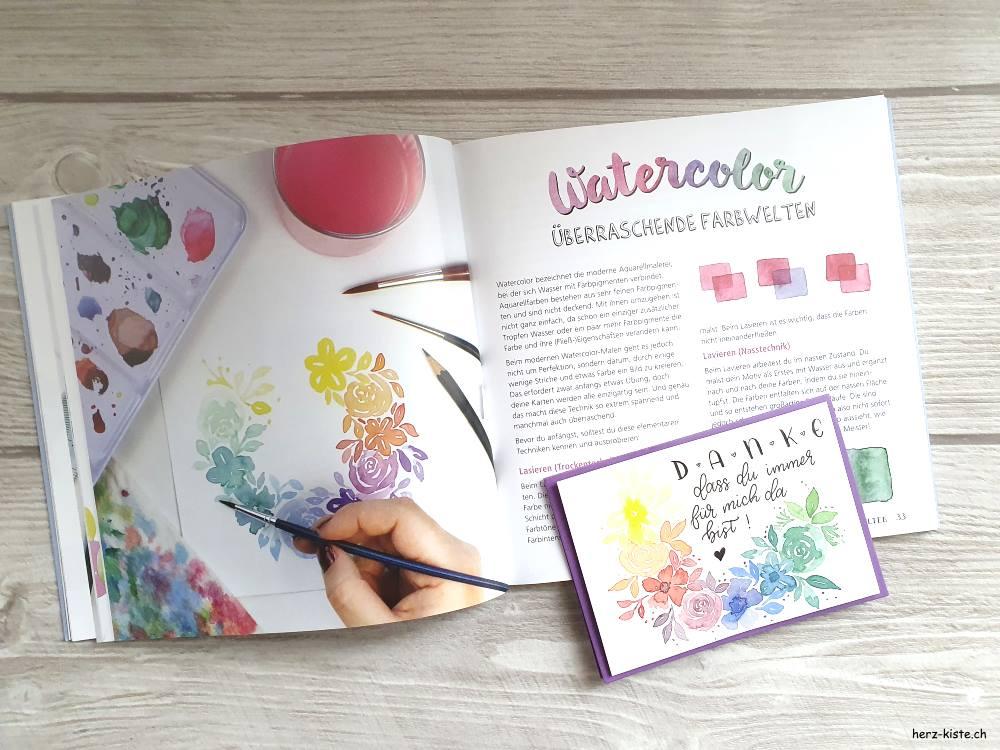 Snail Mail - Karten basteln Ideen und Anleitungen mit Watercolor