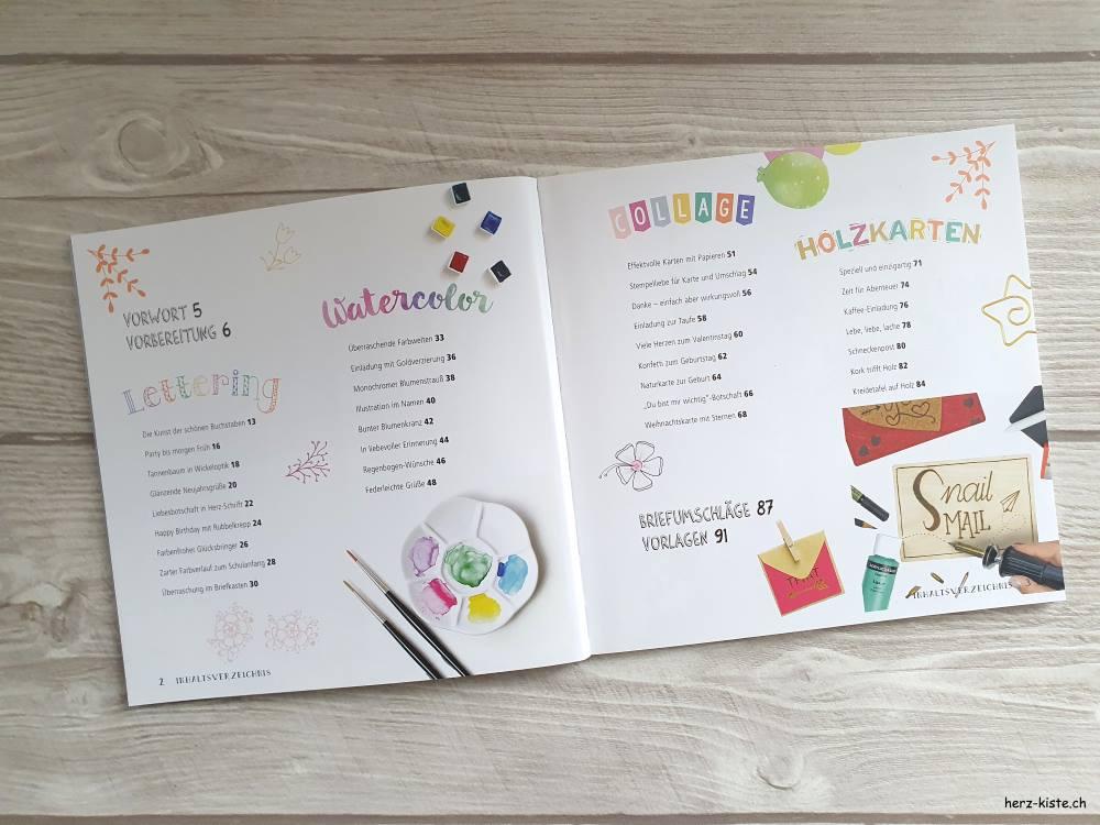 Snail Mail - kreative Kartengrüsse Buch Inhaltsverzeichnis