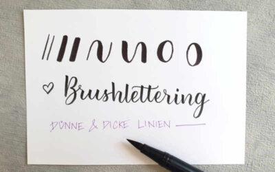 Was ist Brush Lettering? Alles was du wissen musst als Anfänger (inkl. Vorlage)