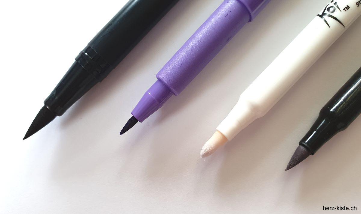 Brush Pen ausgefranste Spitzen